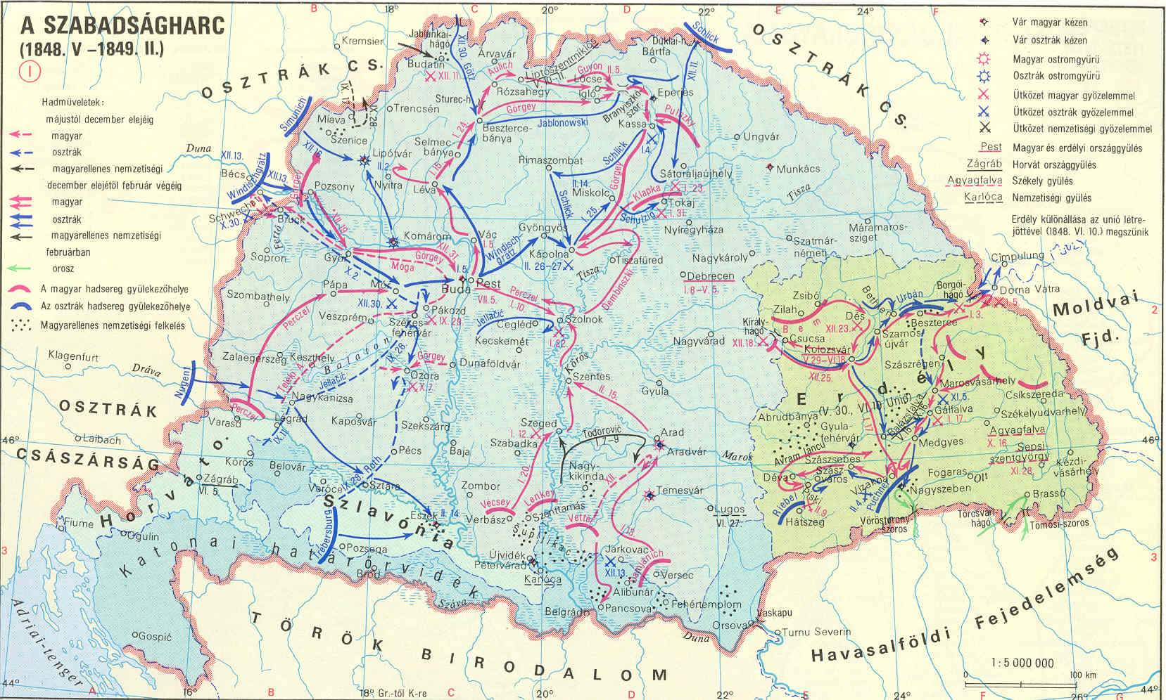 1848 magyarország térkép Kuruc.info   A Habsburg Birodalom és Magyarország 1848 ban 1848 magyarország térkép