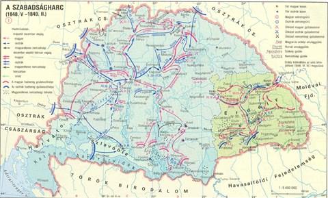1848 magyarország térkép Kuruc.info   A Habsburg Birodalom és Magyarország 1848 ban